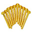 10 Brass Screws round No 8 x 2