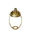 11cm Brass shade carrier with gallery top