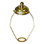 15cm Brass shade carrier with gallery top