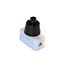 Black push button switch with black cover