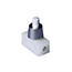 White push button switch with chrome cover
