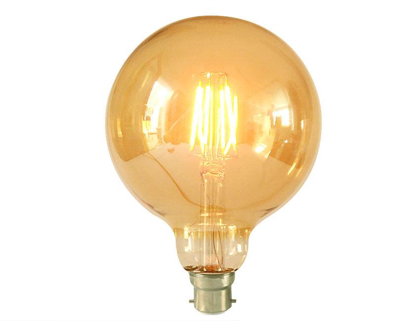 Large Gold Globe Squirrel Cage Led Light Bulb Bc
