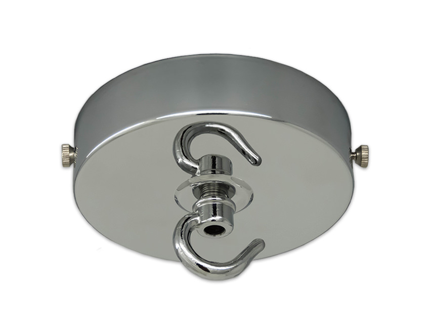 Large Ceiling Rose With Hook In Chrome
