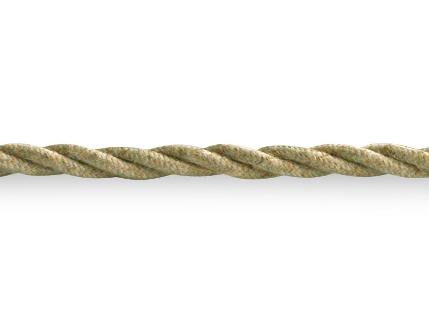 Linen 3 Core Braided Twisted Lighting Cable Flex