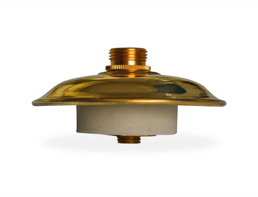 Vase Conversion Kit Bung With Decorative Brass Cap