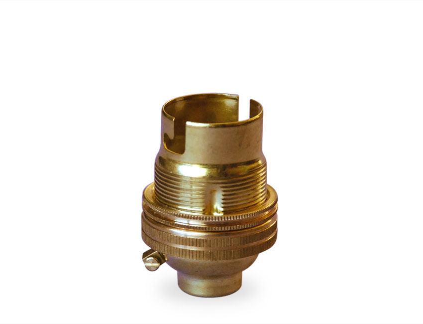 Brass Lamp Holder Bayonet Cap With Shade Rings