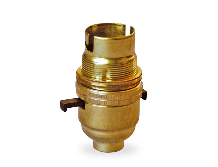Solid Brass Lampholder With Switch Made In The Uk