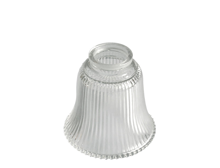 Small Bell Prismatic Holophane Reeded Glass Light Shade