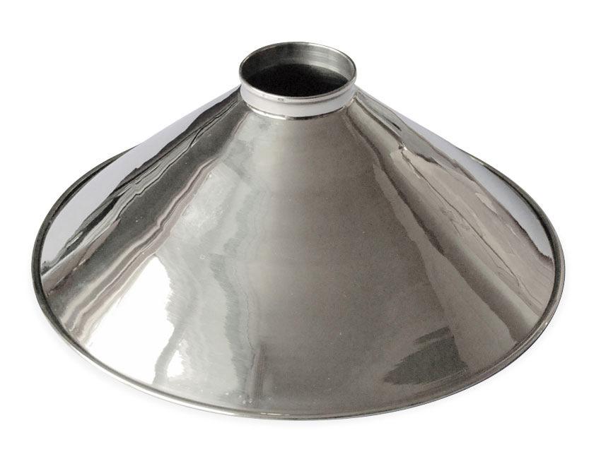 Chromed brass coolie light shade chrome metal pendant view our full range of light shades aloadofball Gallery