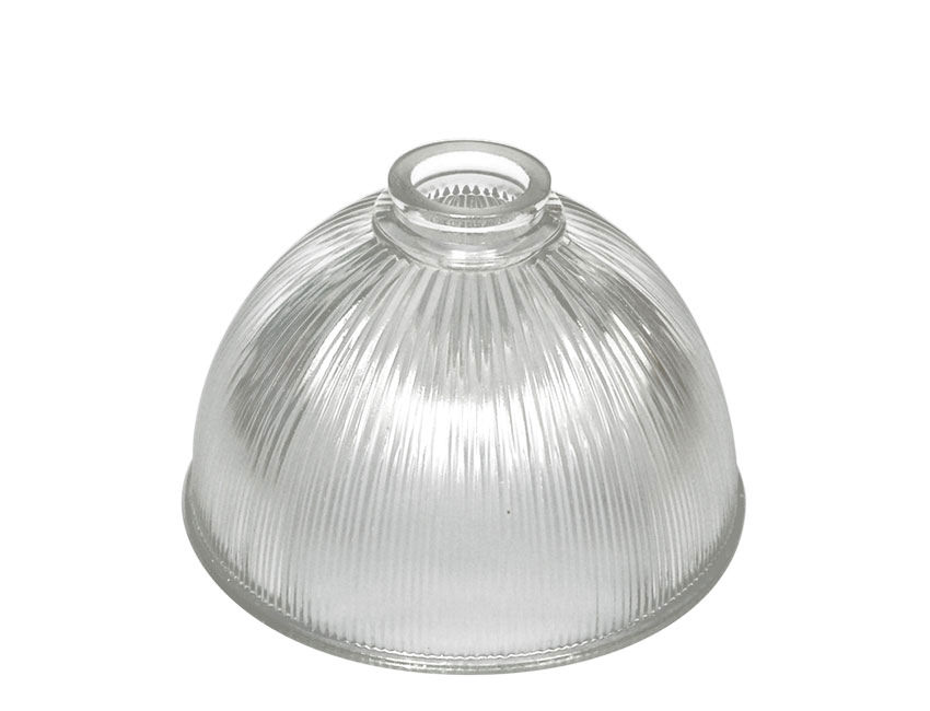 Medium Light Dome Shade Prismatic Reeded Clear Glass 4LARqj35