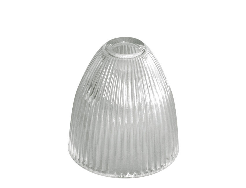 Elongated Dome Prismatic Glass Bayonet Cap Light Shade