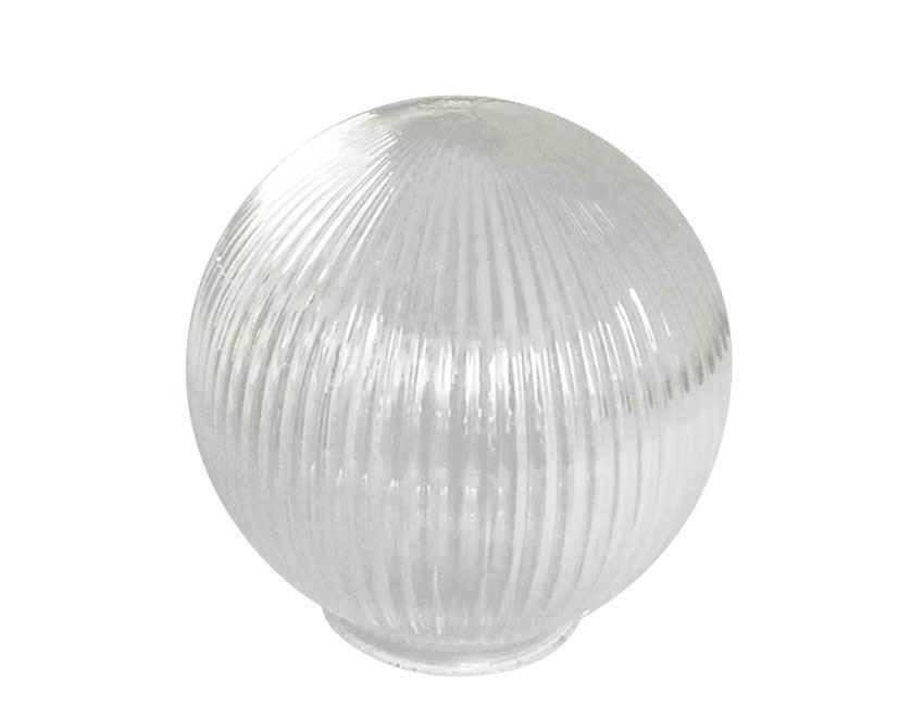 Round Globe Prismatic Ribbed Glass Medium Lampshade