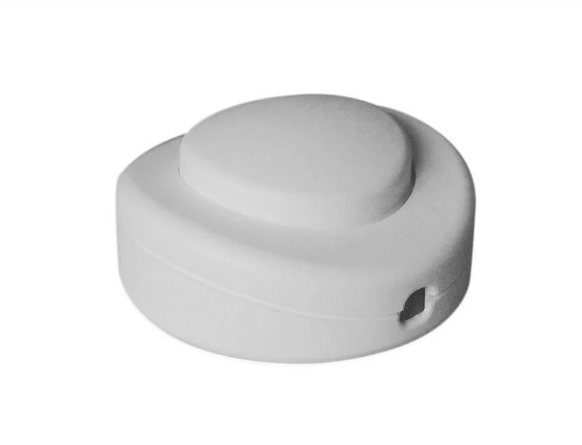 White In Line round Floor Switch