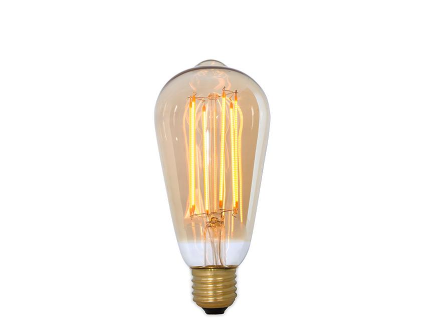 Gold dimming led vintage filament lamp