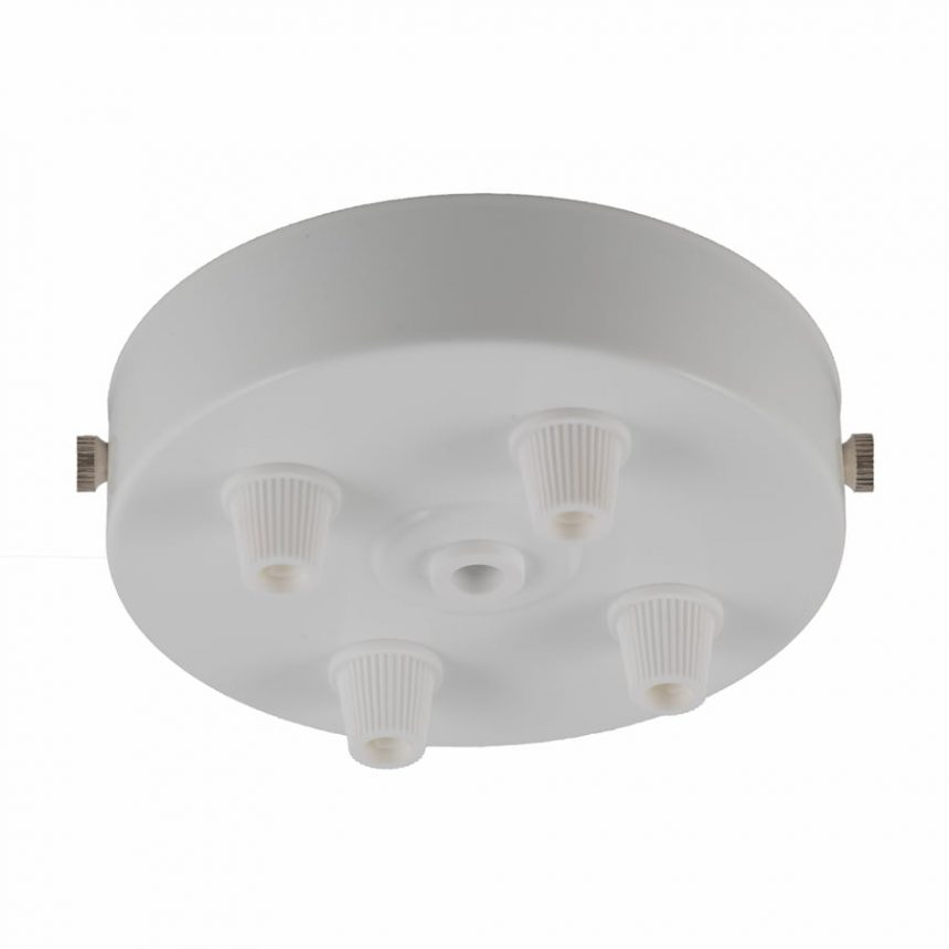 White 4 outlet ceiling rose