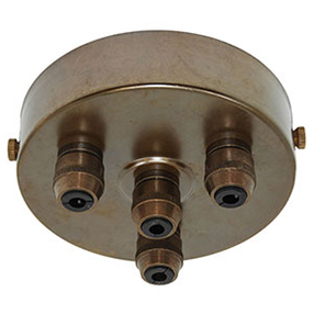 big aged brass 4 metal cord grip ceiling plate 150x150