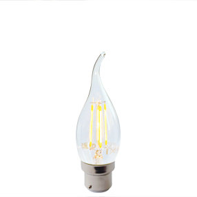 big bulb candle bent tip led filament bc lit ven 150x150