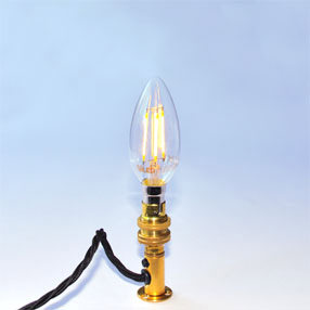 big bulb candle led filament sbc lit lampholder brass ven 150x150