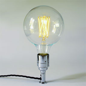 big bulb globe large led filament es lit lampholder chrome cal 150x150