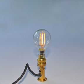 big bulb golf ball led filament sbc lit lampholder brass ven 150x150