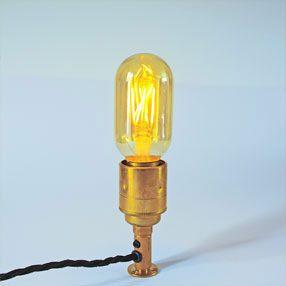 big bulb vintage tube gold led filament es lit lampholder brass cal 150x150