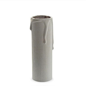 big candle tube 85mm drip white 150x150