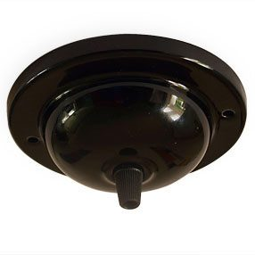 big ceiling plate large single cordgrip ceramic black 150x150