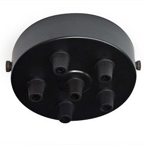 ceiling_rose_6 outlet_black