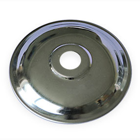 big hardware metal plate 10mm chrome 150x150