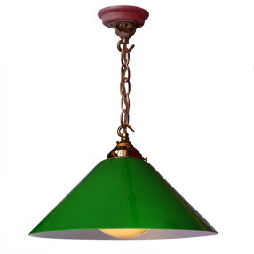 big kits ceiling pendant chain antique lightshade coolie green antique flex 150x150