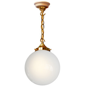 big kits ceiling pendant chain brass lightshade globe white gold flex 150x150
