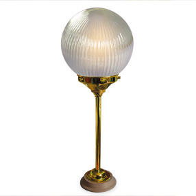 big kits table lamp rod brass lightshade globe prismatic 150x150