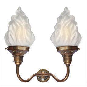 big kits wall light double es antique lightshade flambeau 150x150