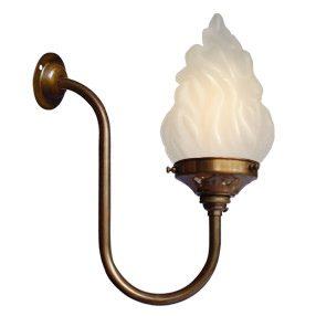 big kits wall light single antique lightshade flambeau 150x150