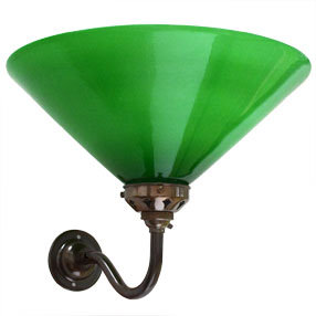 big kits wall light swan neck small bc antique lightshade coolie green 150x150