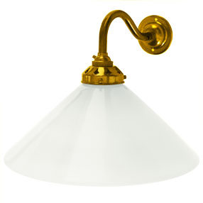 big kits wall light swan neck small bc brass lightshade coolie white 1 150x150