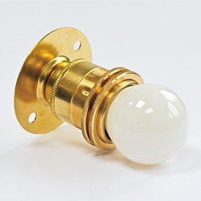 brass lampholder batten style