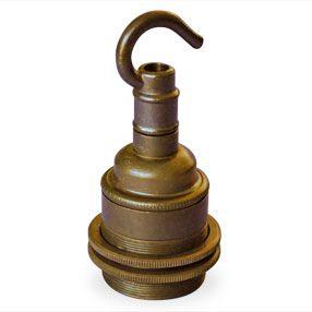 ES Lamp holder with hook