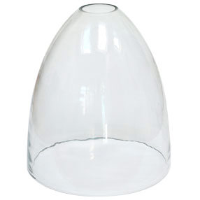 big lightshade bell handblown clear glass medium es 150x150