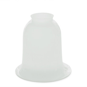 big lightshade bell handblown white glass gallery 150x150