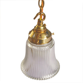 big lightshade bell prismatic glass small brass fittings 150x150