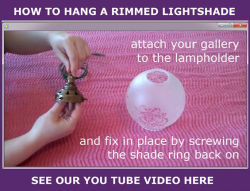 How to hang a rimmed light shade