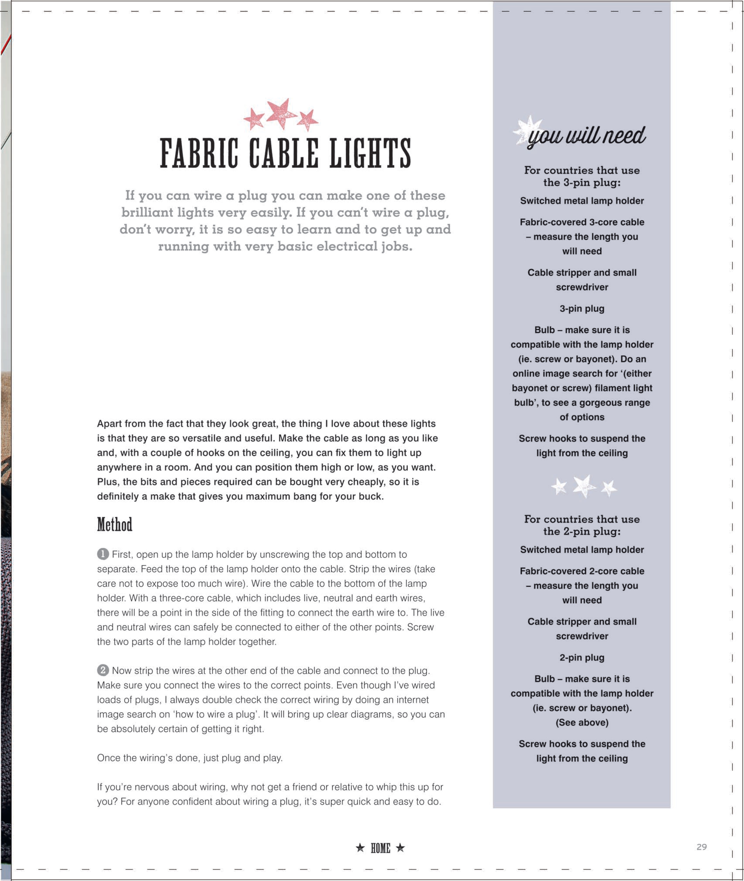 Fabric Cable Lights