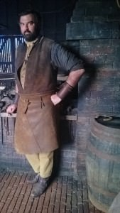 Me as a Blacksmith on the set of Ron Howards new fil Heart of the Sea