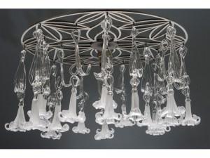 Emma Mackintosh-White lilies glass chandelier
