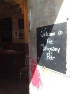 mahogany bar entrance