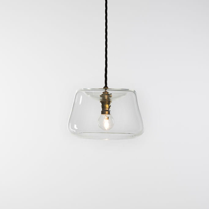Clear ghost pendant with lamp holder and flex